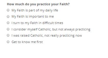 Catholic Singles Question 6