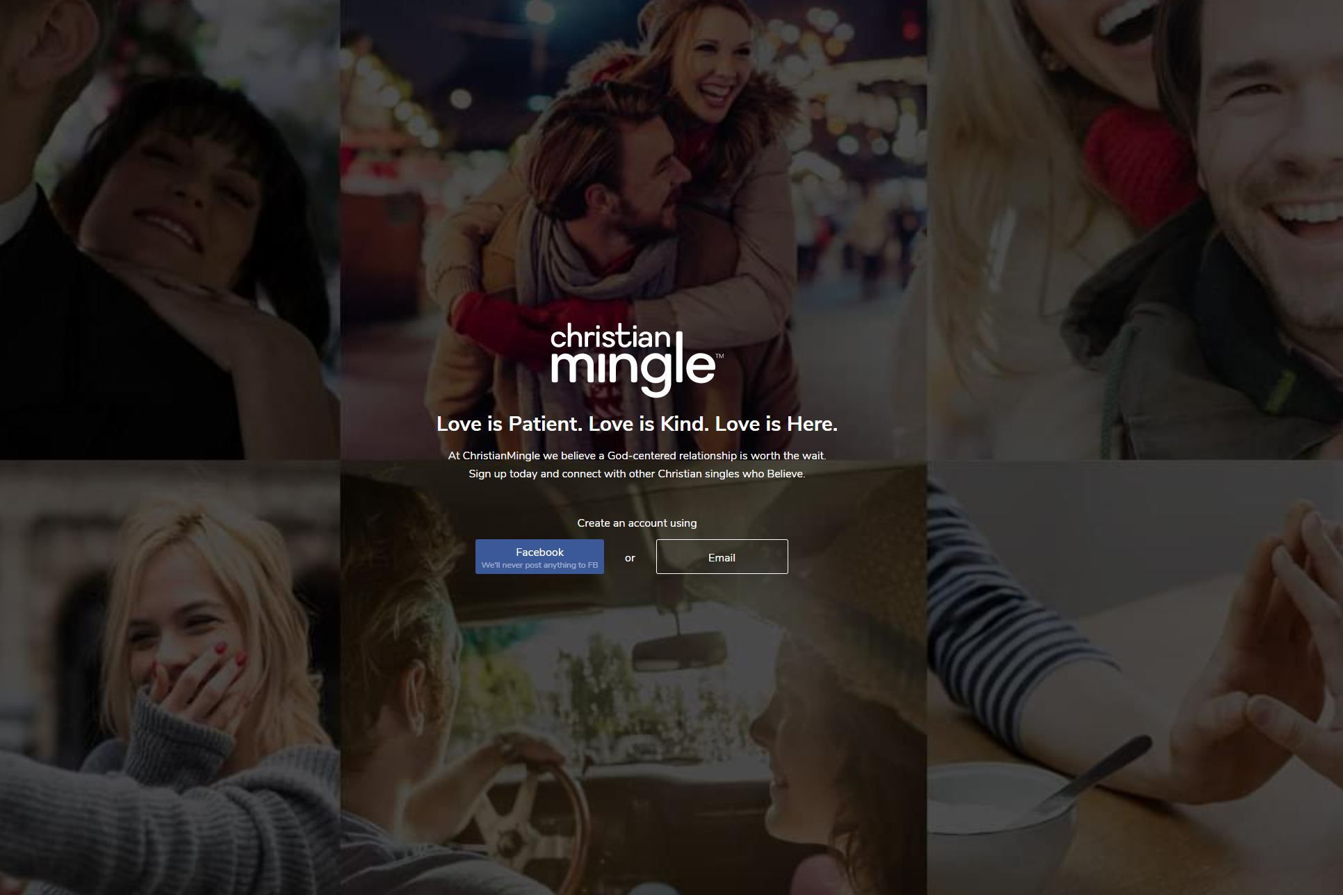 Christian Mingle Review Homepage Screenshot