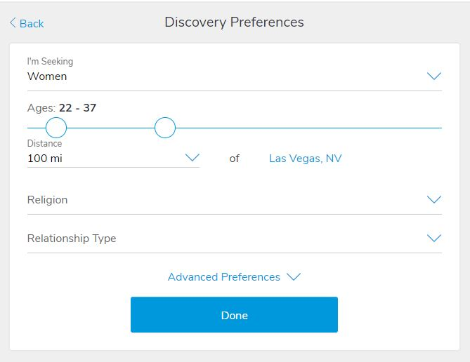 Discovery Preferences