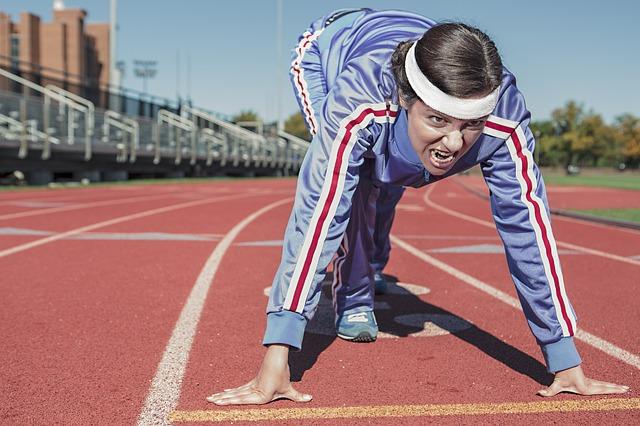Man running a race