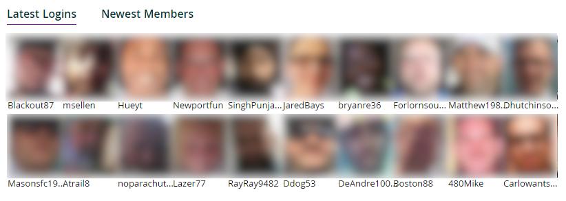 Member search screenshot