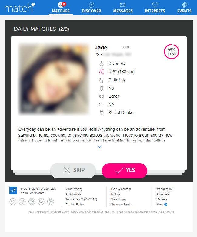 Match.com daily matches