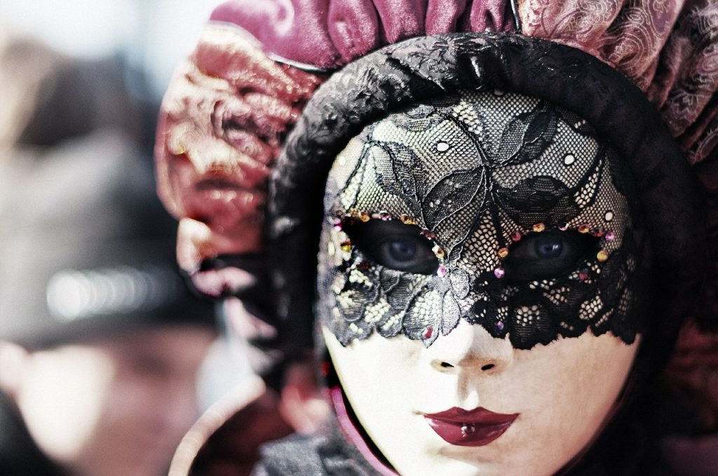 lady with a mask on