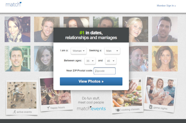 screenshot of match.com