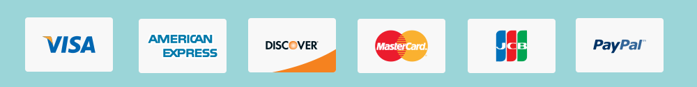 Credit card payment options available