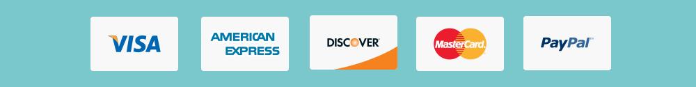 Credit card and paypal logos