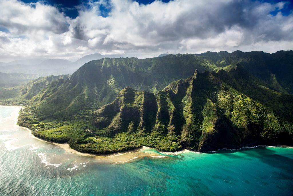 A view of a Hawaiian island