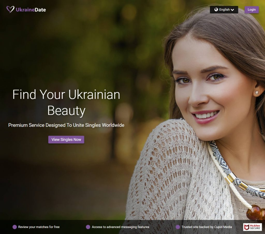 Ukraine Cupid homepage screenshot