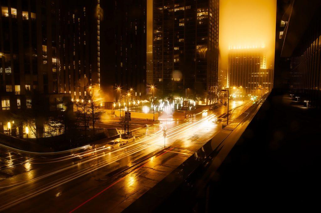 Downtown Georgia at night