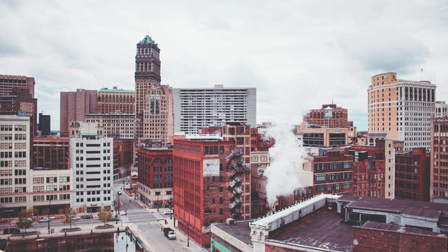 Downtown Detroit in Michigan