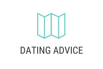 Logo of map and the words dating advice